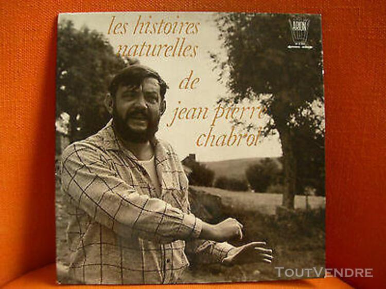 Vinyl 33t – diction: histoires naturelles de jean pierre