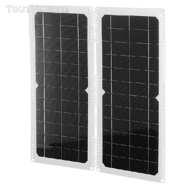20w 12v panneau solaire portable panneau de chargeur pliant