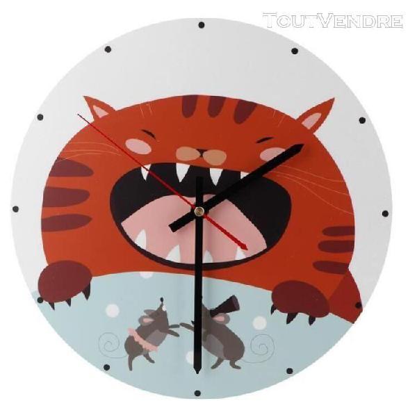Horloge murale nordique horloge murale rétro pour animaux,