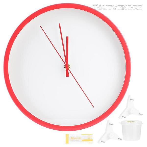 Horloge murale ronde de style simple décoration de la