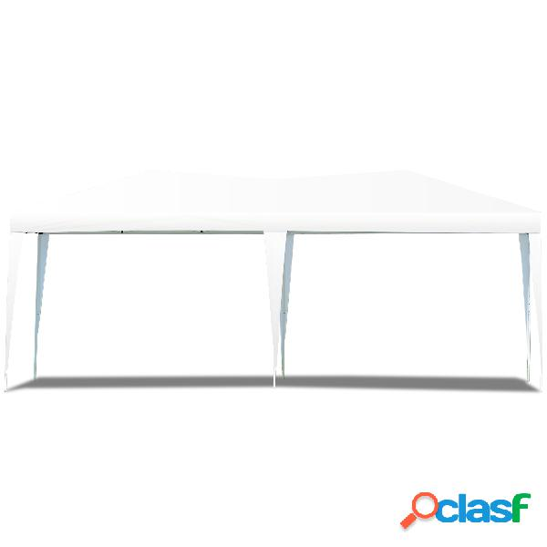 Tente de réception tente pavilion pliable chapiteau imperméable 3x6 m-blanc