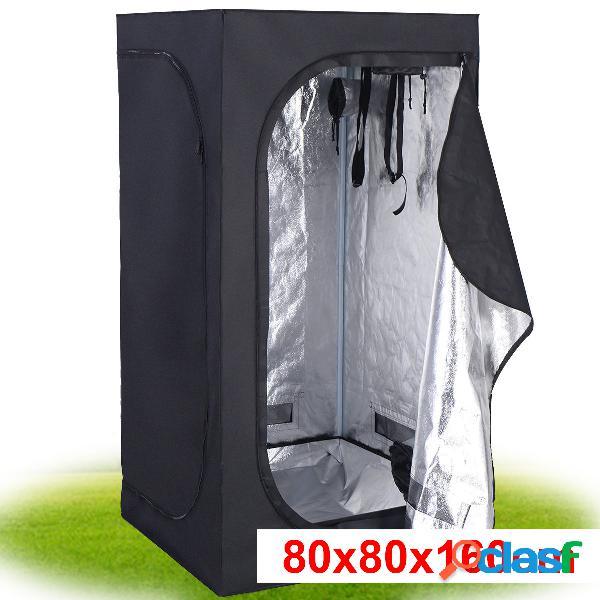 Tente hydroponique chambre de culture pousse culture hydroponique 210d tissu oxford 80 x 80 x 160 cm noir