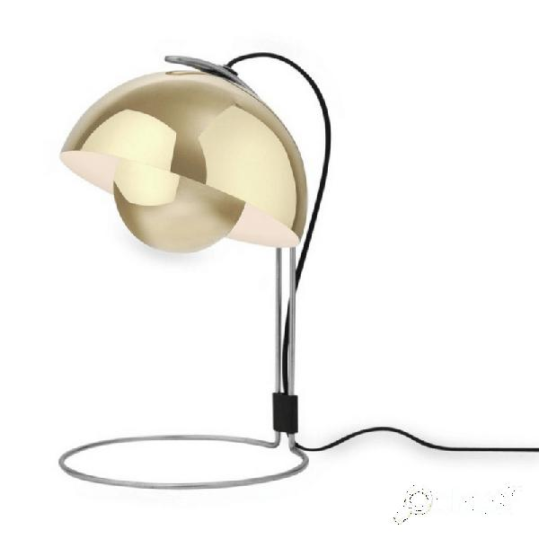 """""""lampe de table décorative flowerpot h36 cm - interrupteur - laiton"""""""