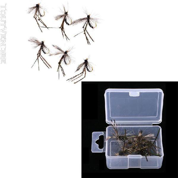 12pcs appâts de pêche artificiel moustique pêche sèche