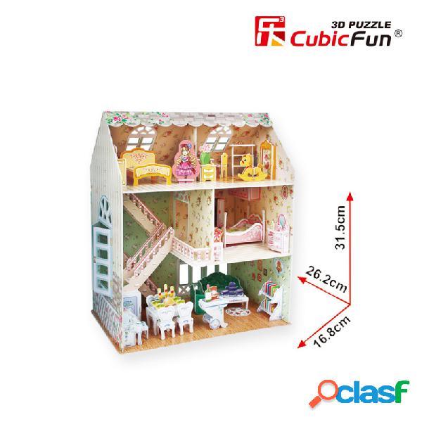 Puzzle 3d - maison de poupées de rêve - difficulté: 4/8 cubic fun
