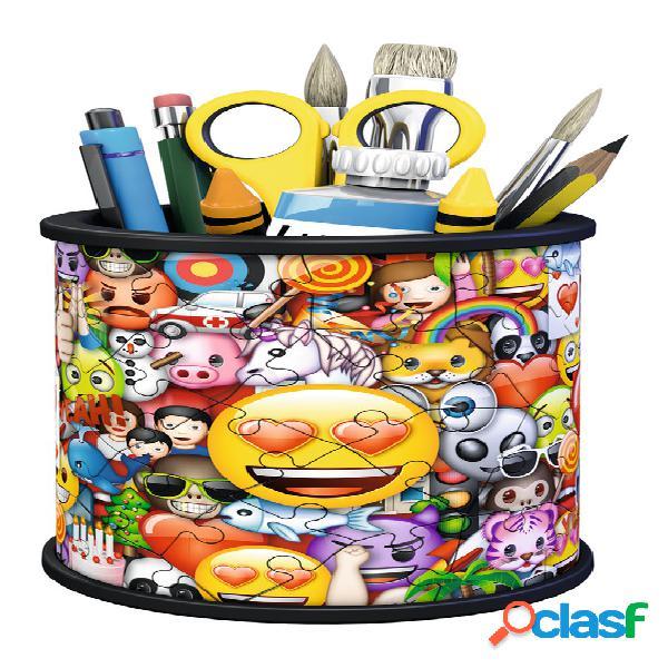 Puzzle 3d - pot à crayons - emoji ravensburger