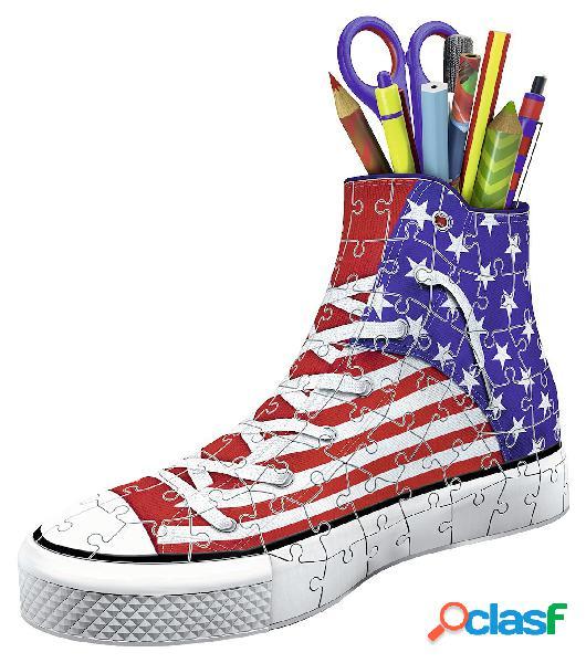 Puzzle 3d - pot à crayons - sneaker american ravensburger