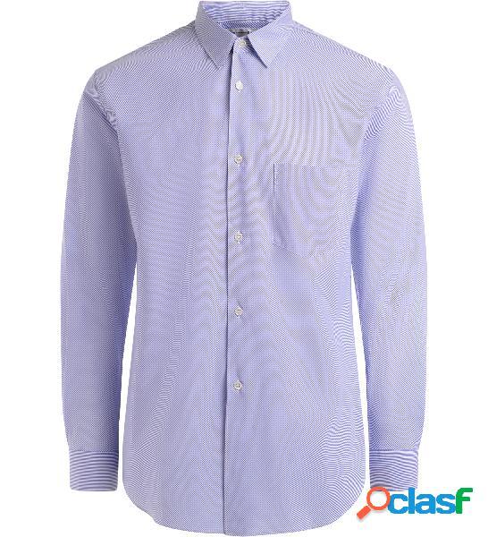Chemise comme des garçons shirt à col cheminée bleu clair et blanche