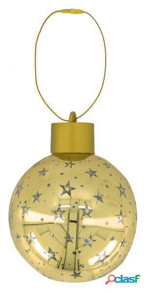 Hema boule de noël led or étoile (doré)