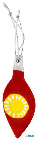 Hema décoration de noël faïence 9.5cm rouge (rouge)