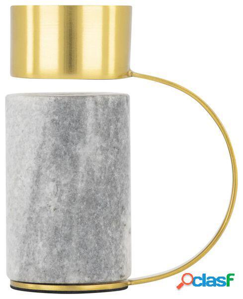 Hema photophore 10 cm - marbre/métal (multi)
