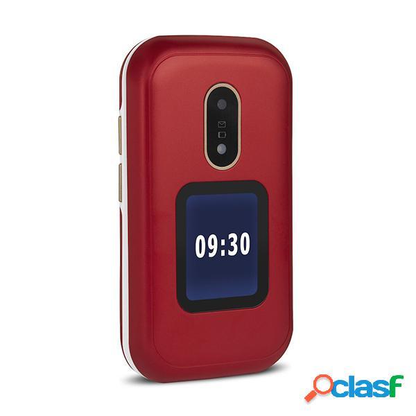 Téléphone portable doro 6060 avec couvercle rouge