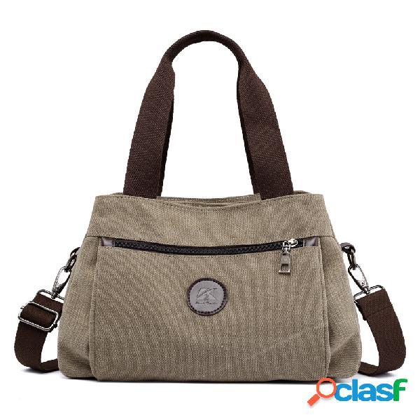 Kvky poches à glissière avant sacs à main sacs à bandoulière en toile vintage sacs à provisions d'été