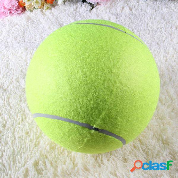 Yani dct-2 squishy géant balle de tennis jouet pour chiens mâcher sport jeu en plein air lancer lancer fetch 24 cm