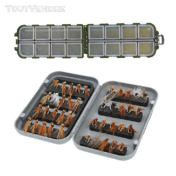 40pcs boîte leurres dans imperméable à l'eau fly box +