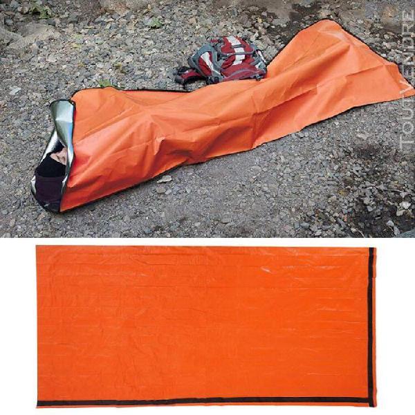 Sac de couchage de secours survival film en aluminium léger