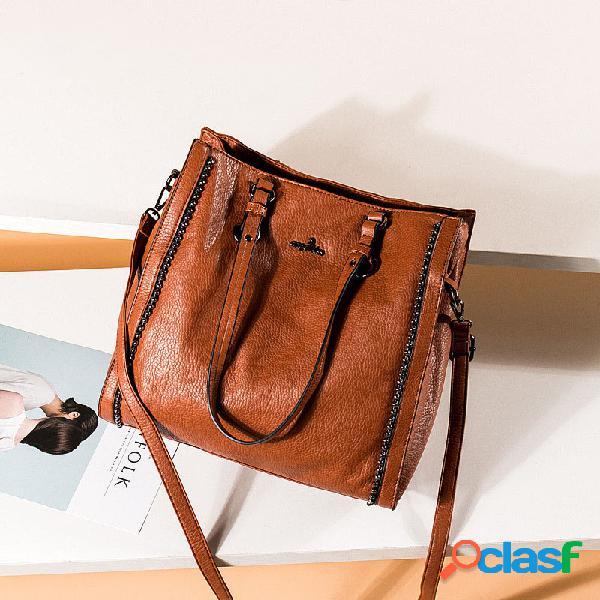 Femmes vintage grande capacité 13,3 pouces sac d'ordinateur portable sac à bandoulière sac à bandoulière fourre-tout