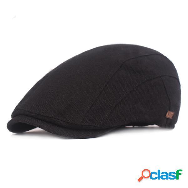 Rétro coton béret réglable couleur unie golf casquette gavroche plat chapeau lierre chapeau de chasse irlandais
