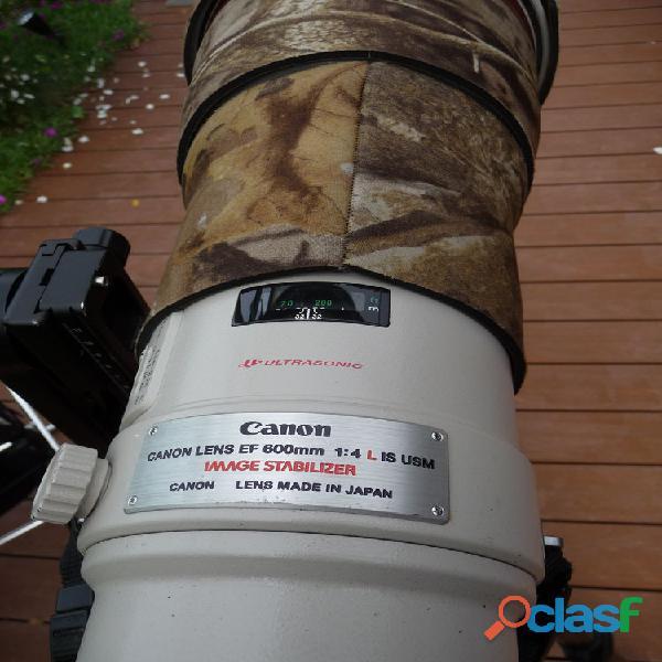 À saisir Objectif 600 f4 série L IS USM avec de nombreux accessoires 1