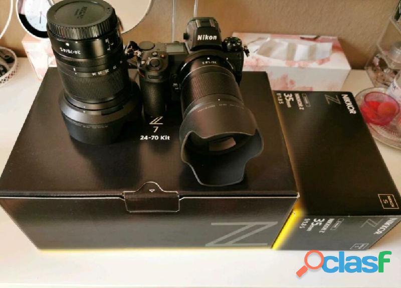 Nikon Z7 avec deux objectifs 24 70mm F4 et 35mm 1.8