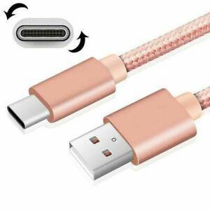 Câble de charge rapide usb de type c câble 3m or rose for