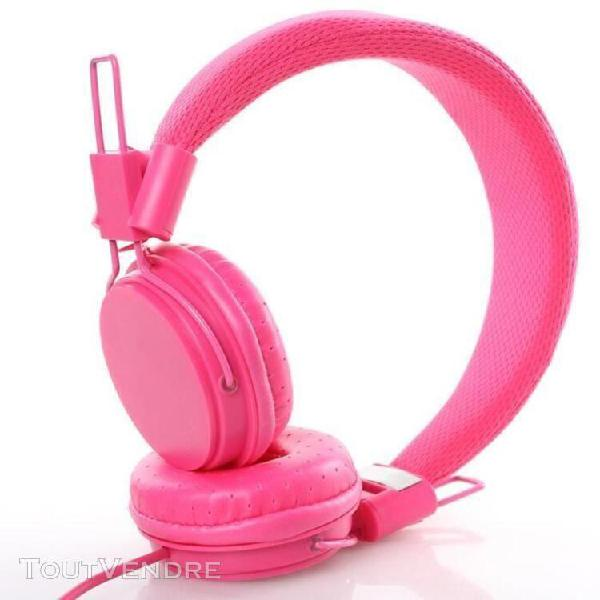 Enfants filaire oreille casque pliable extensible bandeau en