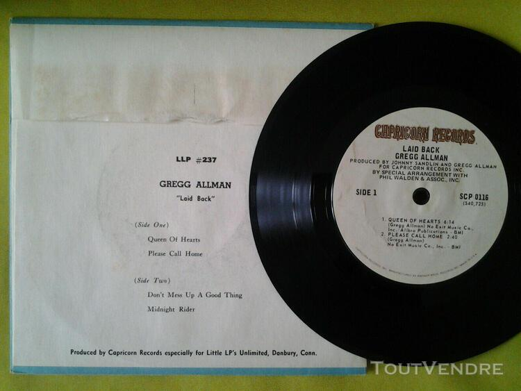 Gregg allman laid back jukebox ep 4 titres 33 1/3 rpm