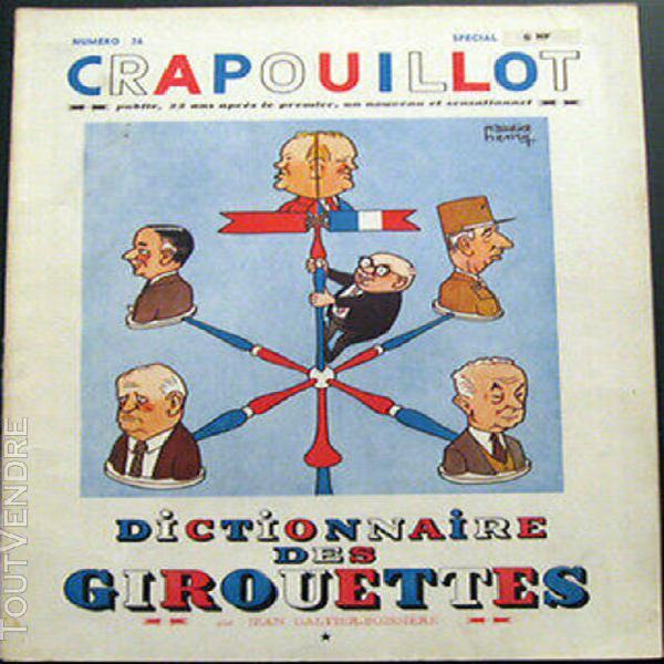 Le crapouillot n°36-37 dictionnaire des girouettes 1957