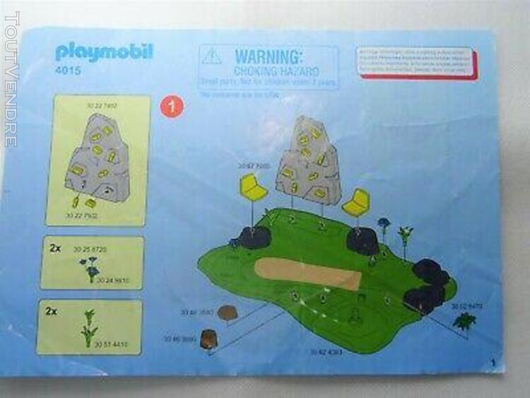 Playmobil 4015 - city life - notice jardin d'enfants - tyrol