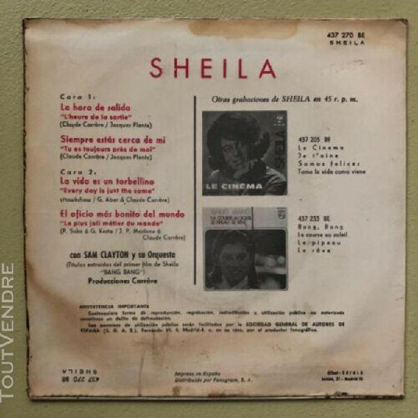 Rare - sheila - ep 4 titres pressage espagne - la hora de sa