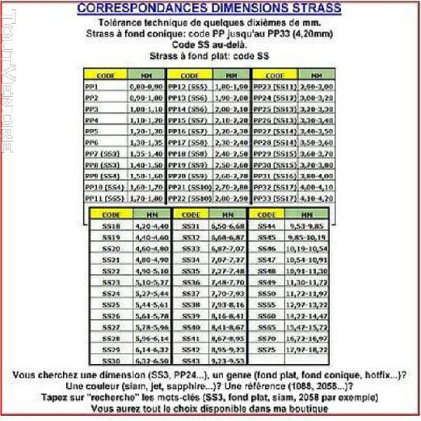 2088 ss30 c *** 15 strass swarovski fond plat ss30 (6,4mm) c