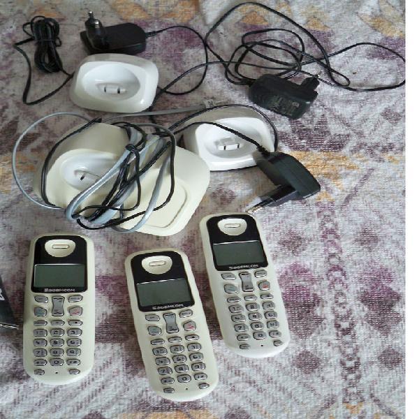 3 combinés téléphoniques couleur blanc sagem occasion,