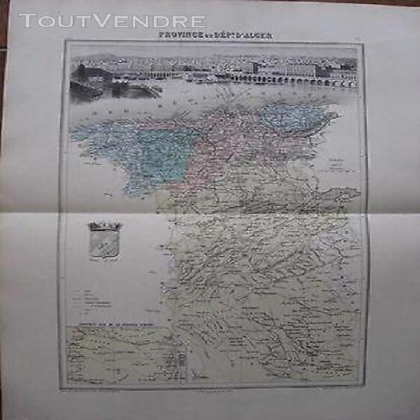 Carte ancienne province ou dpt d'alger