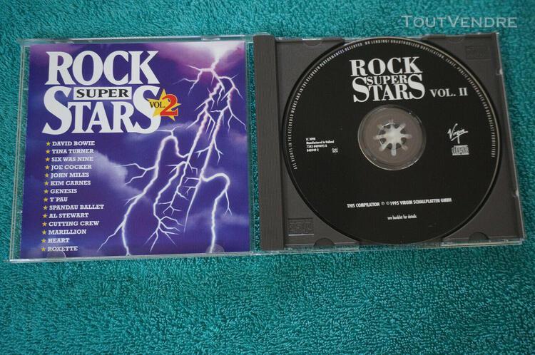 Cd rock super stars vol 2: 14 tires / bowie / marillion / !