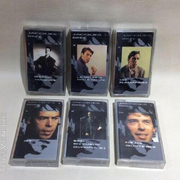 Lot 6 cassettes jacques brel / grand jacques