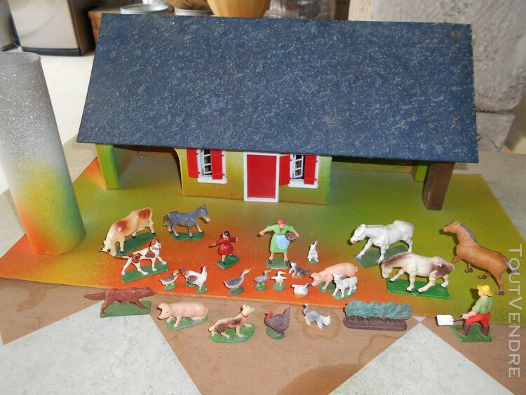 Lot ferme et animaux starlux rare anciens 1:32