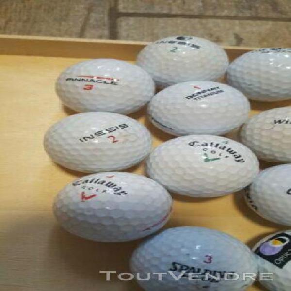 Lot x19 balles de golf occasion marques divers