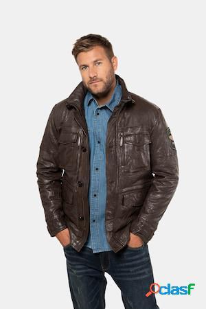 Veste cuir - grande taille