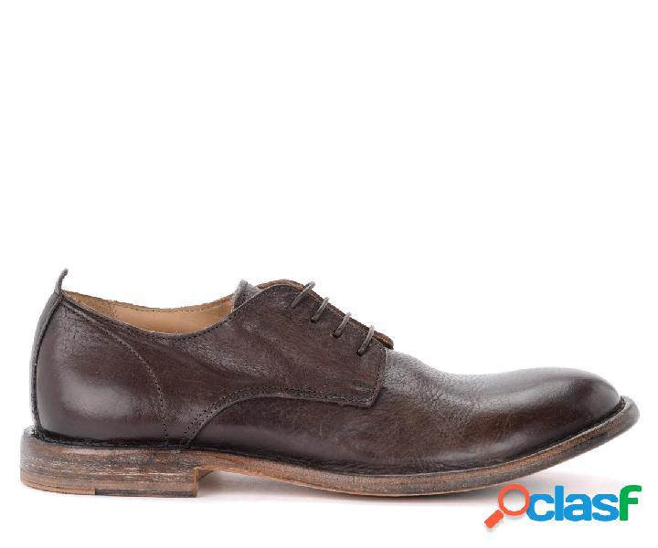 Chaussures à lacets moma en cuir couleur ébène