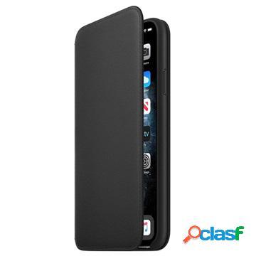 Étui à rabat en cuir apple iphone 11 pro max mx082zm/a - noir