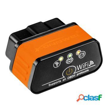 Outil de diagnostic pour voiture konnwei kw903 elm327 wifi obd2