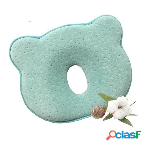 Bébé oreiller infant toddler positionneur de sommeil anti roulement coussin protection tête plate pour bébé coton p