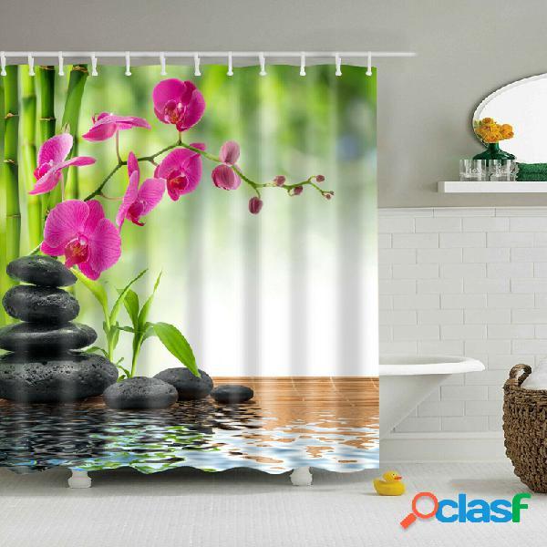 180 * 180cm rideau de douche 3pcs tapis tapis de bain set design moderne pour salle de bains