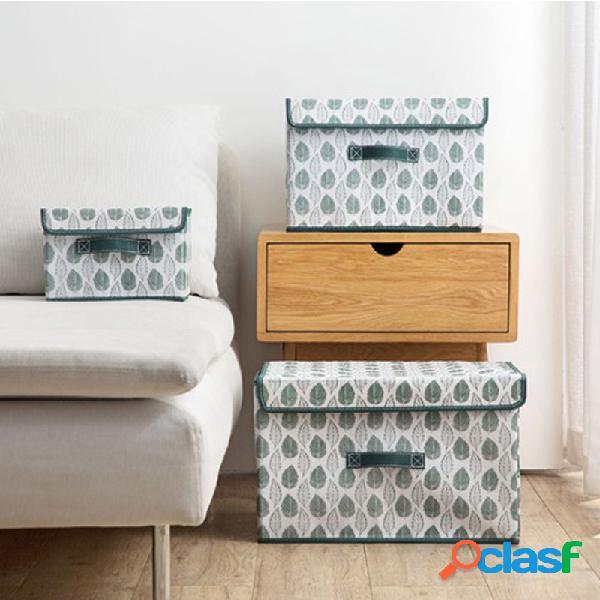 Tissu de grande boîte de rangement non tissé avec boîte de rangement pour vêtements de protection boîte de rangement pour vêtements pliable