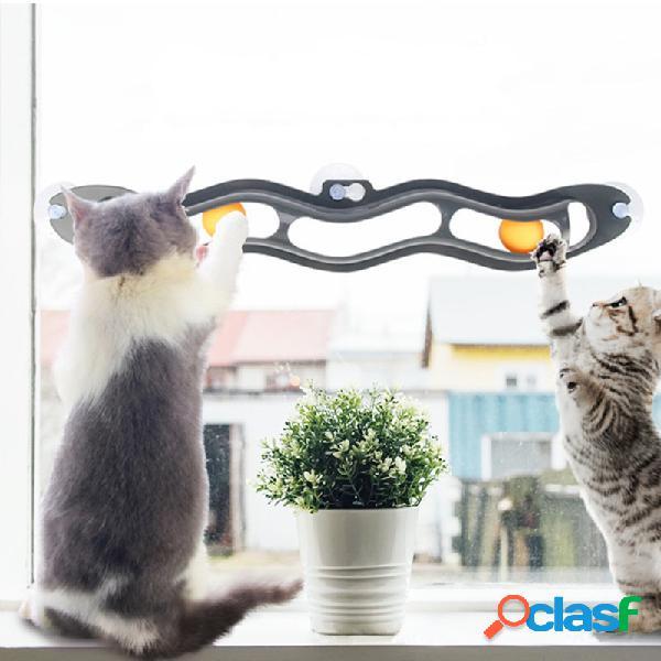 Tunnel de formation de tunnel de chat de ventouse de jouet de tennis de table tunnel de formation de chat