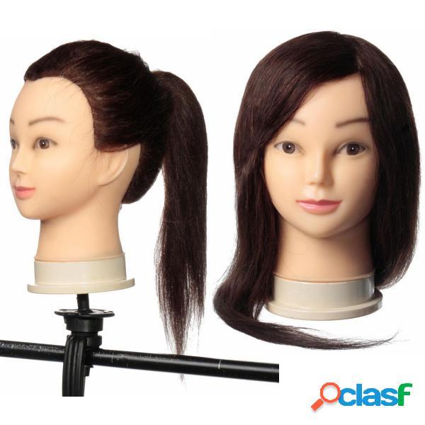 24 po à cheveux longs modèles de soins de beauté modèles de coiffure tête de formation avec pinces