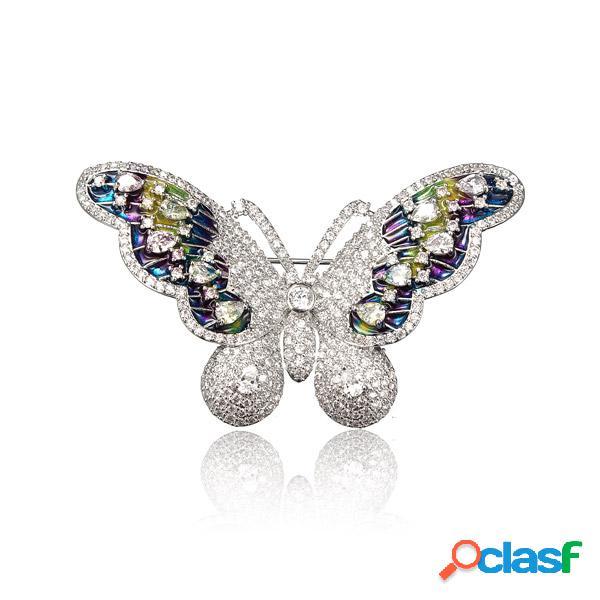 Broche papillon douce en zircon