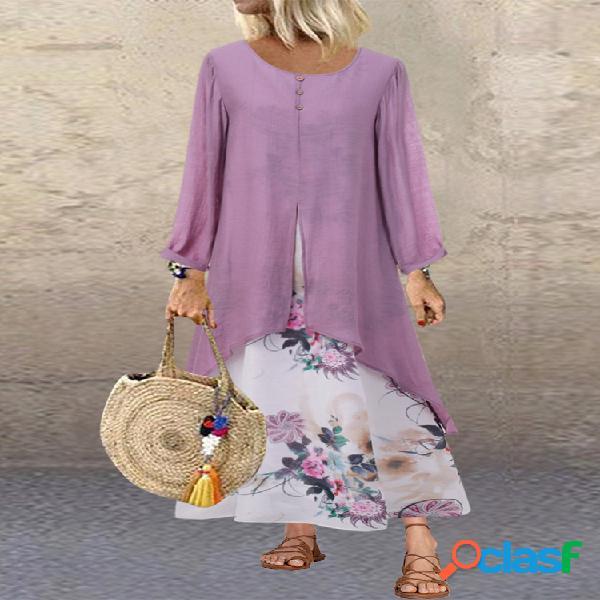 Robe de taille vintage plus à imprimé floral