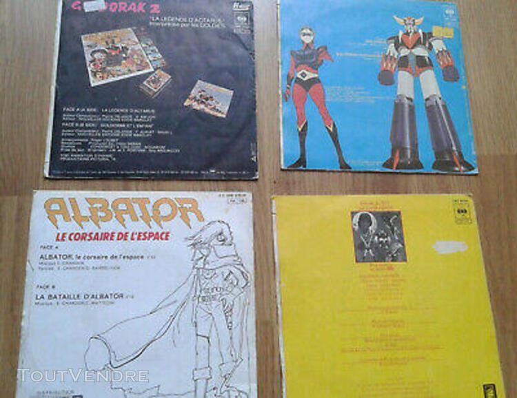 4 disques 45 t an 70/80 goldorak spiderman albator ulysse 31