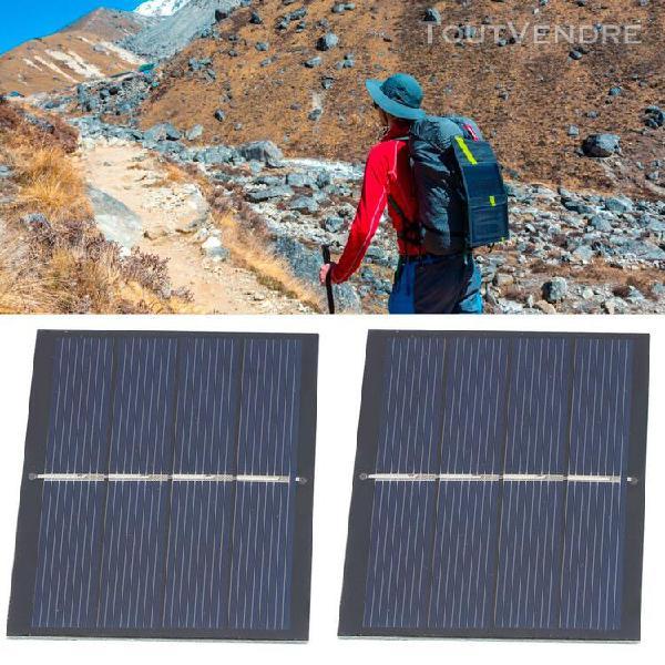 4pcs 0.65w 2v diy système de module de panneau solaire pour